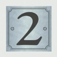 Classic Designs House Number Silver - No 2